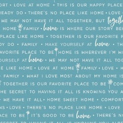 Blue Home Phrases MAS9395-B