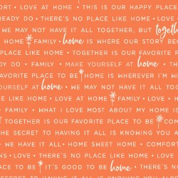 Orange Home Phrases MAS9395-O