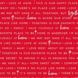 Red Home Phrases MAS9395-R