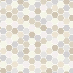 Taupe Mini Hexagons MAS9398-TK
