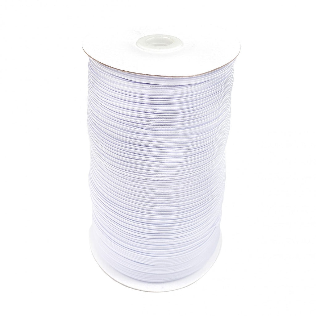 "1/4"" White Braided Elastic"
