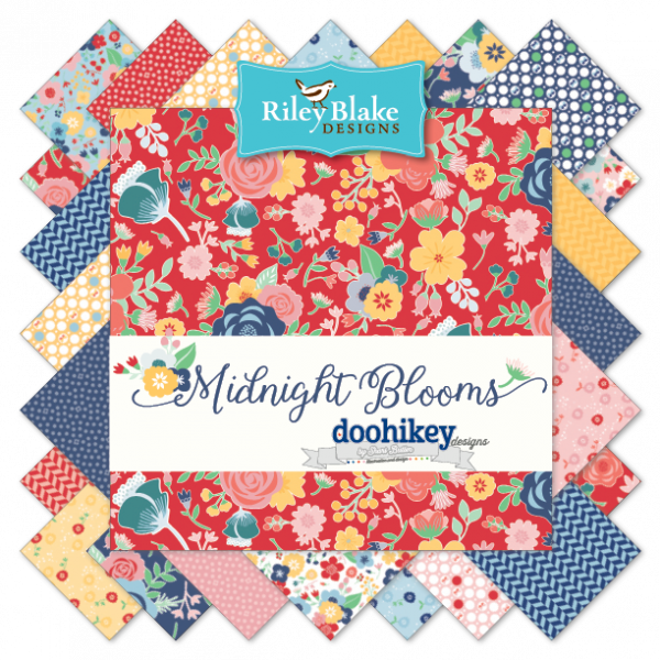 Midnight Blooms Yardage