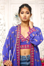 Load image into Gallery viewer, Indigo Garden Hoodie Set