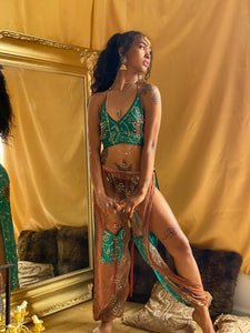 Emerald Leaves Jasmine Set