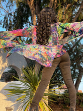 Load image into Gallery viewer, Opal Rainbow Ruffle Robe