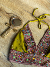 Load image into Gallery viewer, golden forest halter top