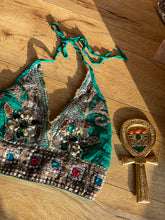 Load image into Gallery viewer, Electric diamond halter top