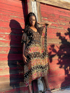 Midnight Warrior Kaftan Dress