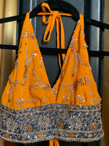 Yellow Diamonds Halter Top