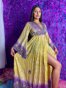 Beauty & the Solar Plexus Anarkali Jacket Dress
