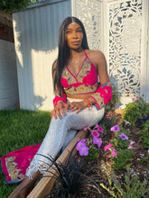 Load image into Gallery viewer, Pink lotus halter top