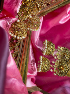 The Maya Gold Jhumka Earrings