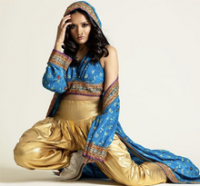 Load image into Gallery viewer, The Priyanka Blue Hooded Kimono