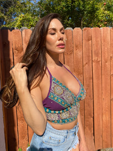 Purple Lotus Halter