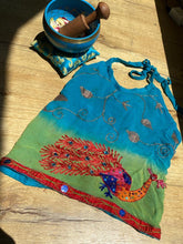 Load image into Gallery viewer, Peacock Halter Top