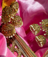 Load image into Gallery viewer, The Maya Gold Jhumka Earrings