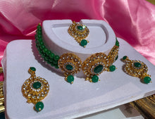 Load image into Gallery viewer, The Emerald Empire Necklace Set