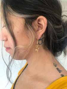 Small Gold Unalome Earrings