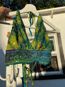 Cosmic forest halter top