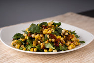 Corn Salad with Roasted Tomato and Tomatillo