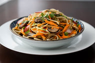 Sesame Noodle Salad with Mandarin and Thai Basil