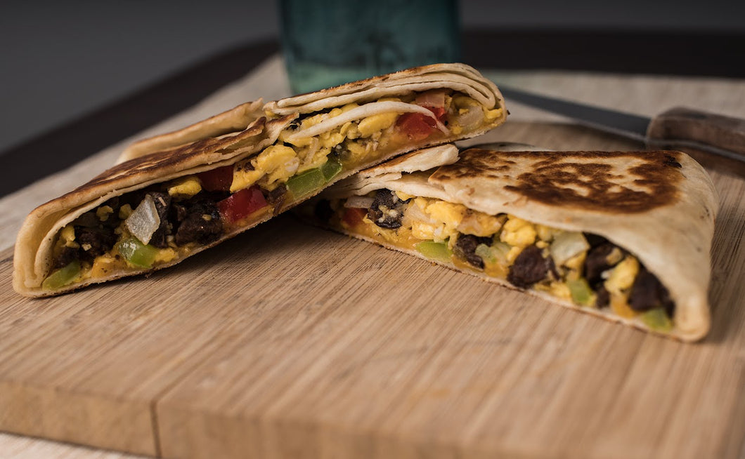 Steak and Eggs Breakfast Quesadilla