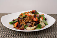 Wheatberry and Roasted Rainbow Carrot Salad