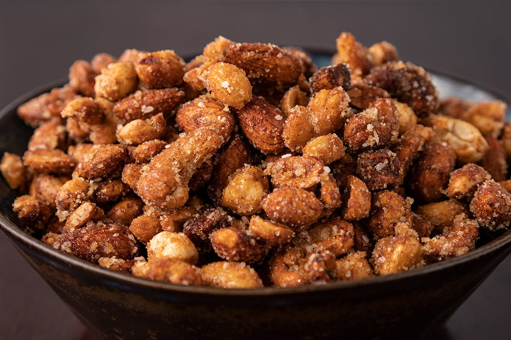 Sweet and Spicy Honey Roasted Mixed Nuts