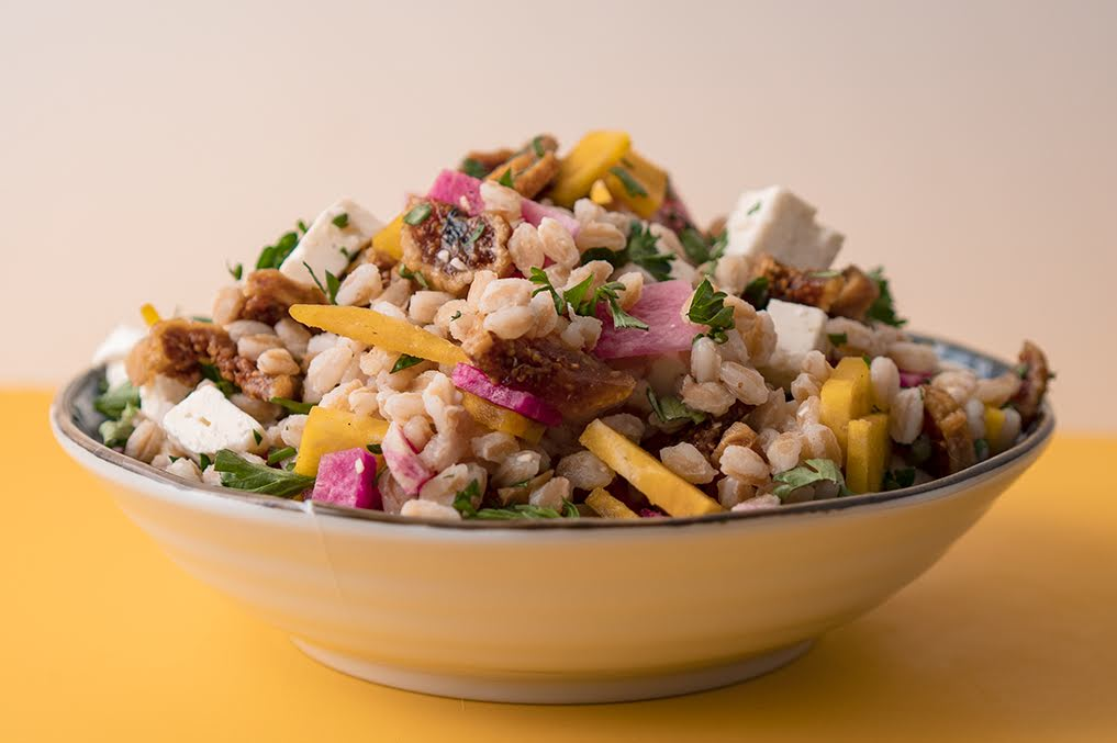 Farro, Fig and Feta Salad