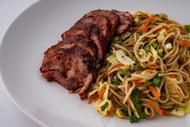 Char Sui Pork with Vegetable Lo Mein