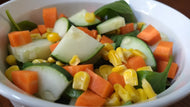 Cucumber Carrot and Corn Salad