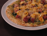 Ham, Egg and Cheese Flatbread