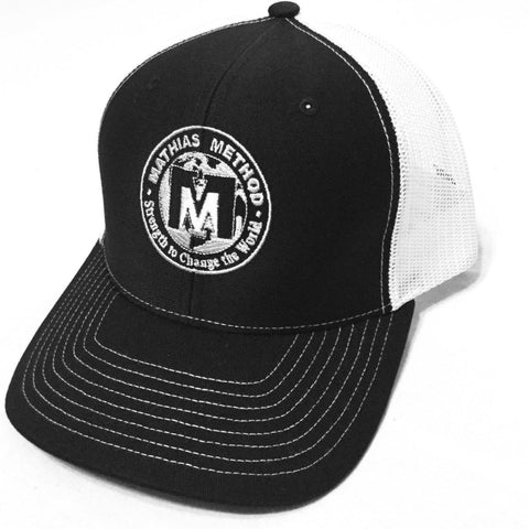 Mathias Method Snapback Hat - Black/White - STRENGTH WORLD