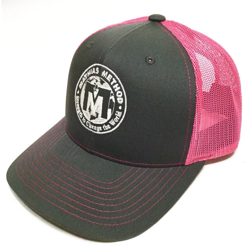 Mathias Method Snapback Hat - Charcoal/Pink - STRENGTH WORLD