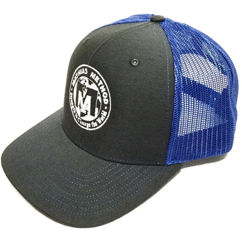 Mathias Method Snapback Hat - Charcoal/Royal Blue - STRENGTH WORLD