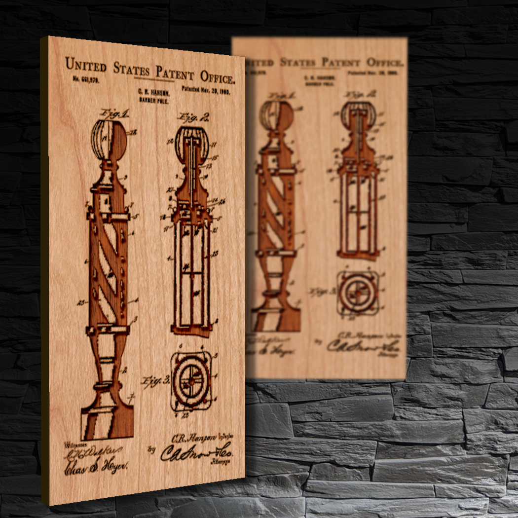 Barber Pole Patent Shop Sign
