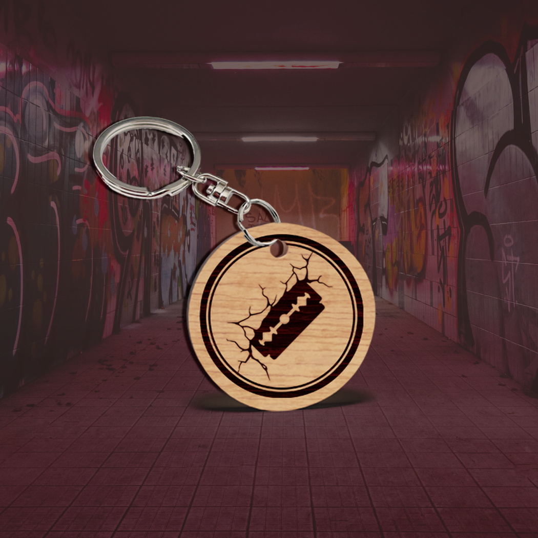 Cracked Wall Key Chain