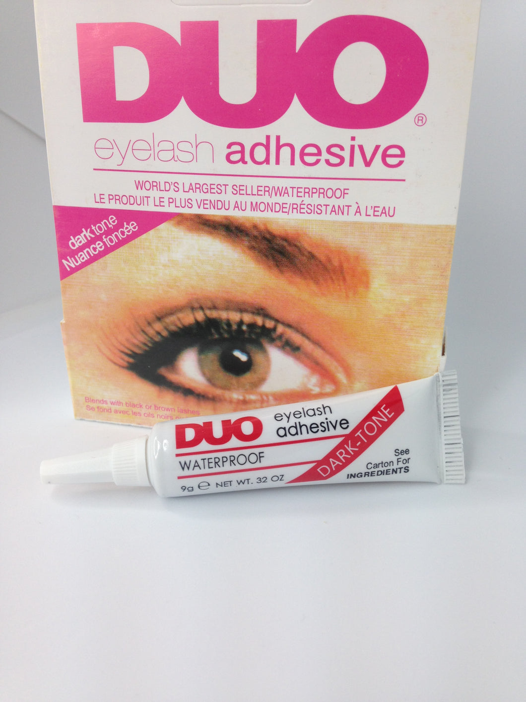 Eyelash glue. Dark tone
