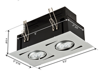 LED ALPHA STUDIO Recessed Light Unit (2x1)