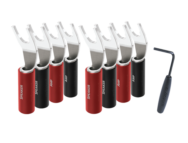 AudioQuest SureGrip 100 Multi-Spade Connector - 8 Pack