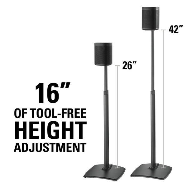 Sanus WSSA1 Adjustable Speaker Stand for SONOS
