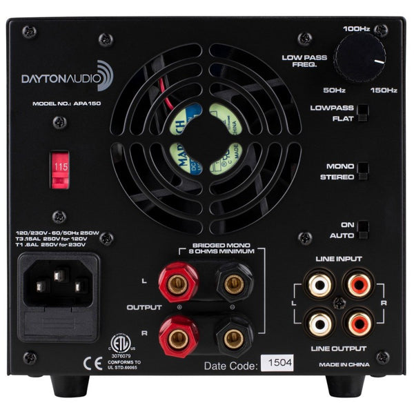 Dayton Audio Integrated Amplifier APA150