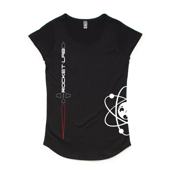 Womens Rocket Lab Logo T-Shirt - Black