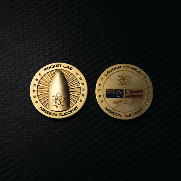 Gold Mission Success coin - Dedicated mission