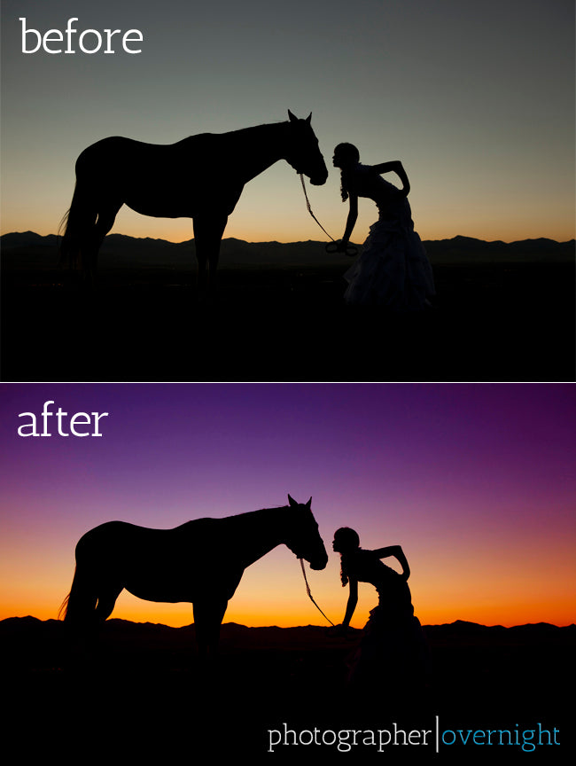 before after silhouette edit