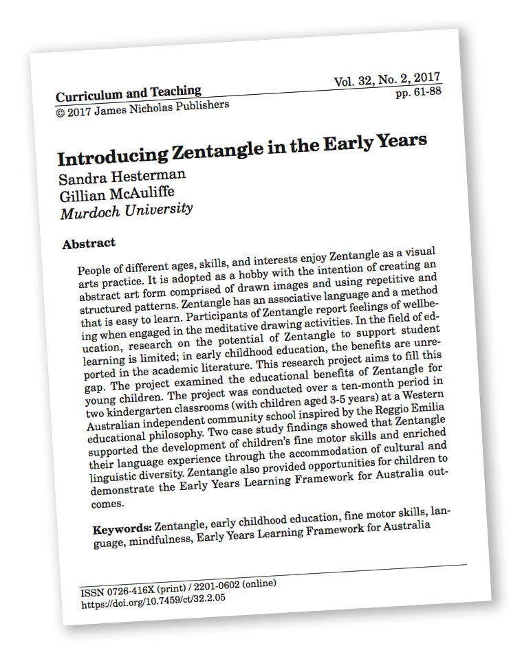 Introducing Zentangle in the Early Years