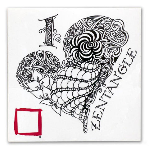 I Love Zentangle Decal