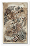 Zentangle Sepia Tangles Postcard