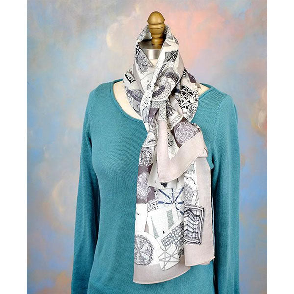 Beautiful Zentangle Tiles Scarf