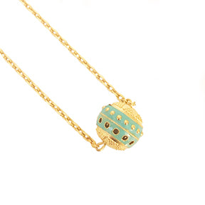 14 MM Bola Necklace with Enamel
